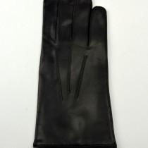 Gépi varrott férfi bőrkesztyű, a kézfején elegáns dísztűzéssel, bőr kesztyű, bőrkabát bolt, bőrkabátbolt