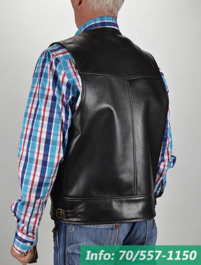a2b1f9da8b ... Klasszikus, fekete kecskebőr mellény, bőrmellény, bőrkabát, bőrkabát  bolt