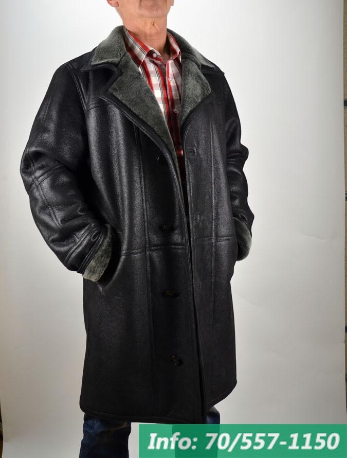 5fe758649c Hosszított fazonú férfi irhakabát, irhabunda, bőrkabát, bőrkabát bolt ...