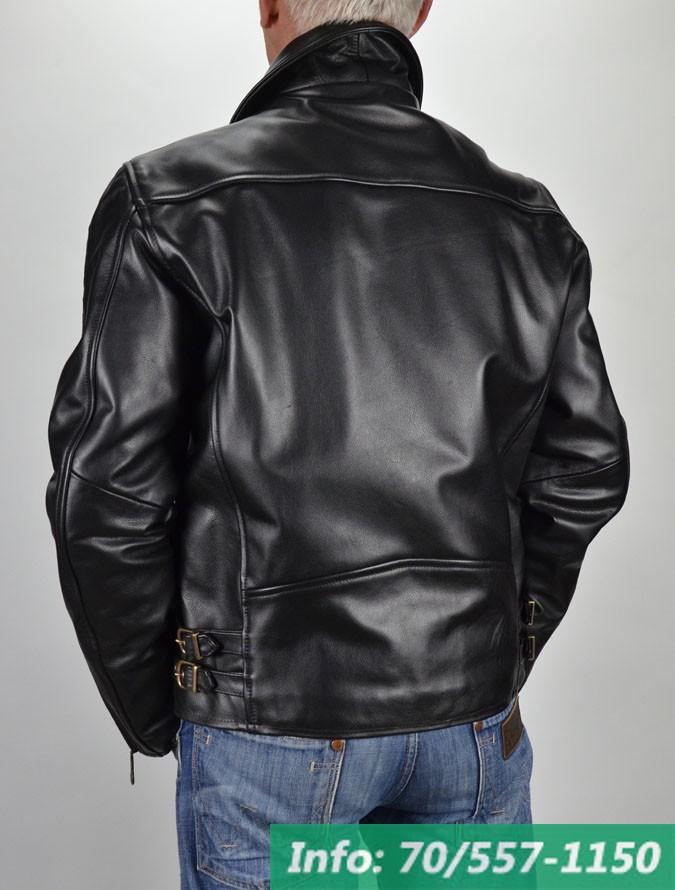Brando Ronaldo fekete férfi bőrkabát
