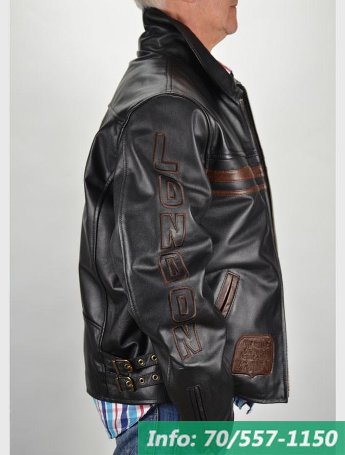London Brando RONALDO fekete-barna bőrdzseki - Bőrkabát boltBőrkabát ... 7e22c5178a