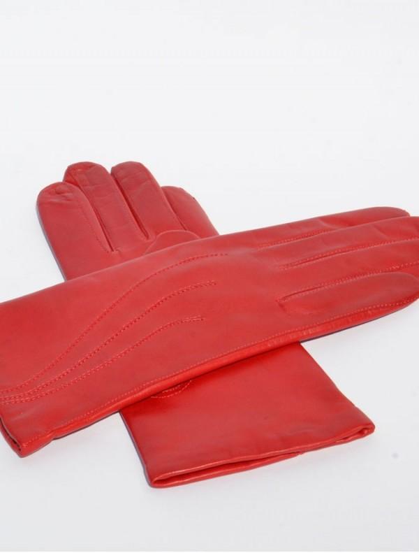 Piros női bőrkesztyű puha juhnappa bőrből varrva, kesztyű, bőrkabát, bőrkabát bolt