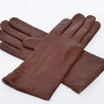 Barna női bőrkesztyű a kézfején L alakban díszítve puha báránynappa bőrből, kesztyű, bőrkabát, bőrkabát bolt