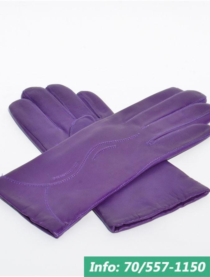 Lila női bőrkesztyű a kesztyű kézfején futó hullám díszítéssel, kesztyű, bőrkabát, bőrkabát bolt
