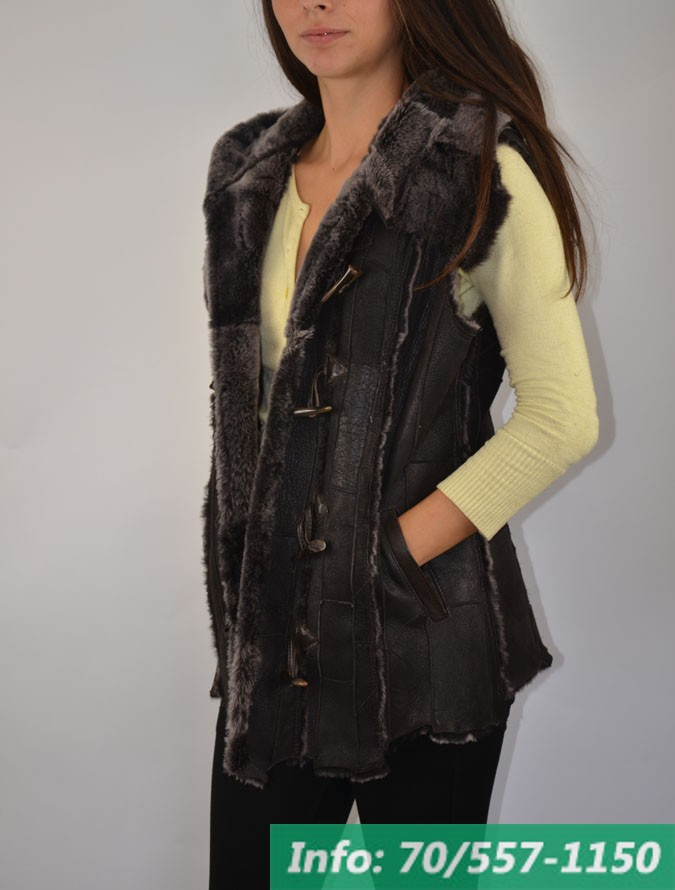 LINDA női irhamellény - Bőrkabát boltBőrkabát bolt 4ce2ecd35c