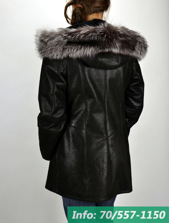 FALA fekete női kapucnis irhabunda - Bőrkabát boltBőrkabát bolt 89eb58cdfc