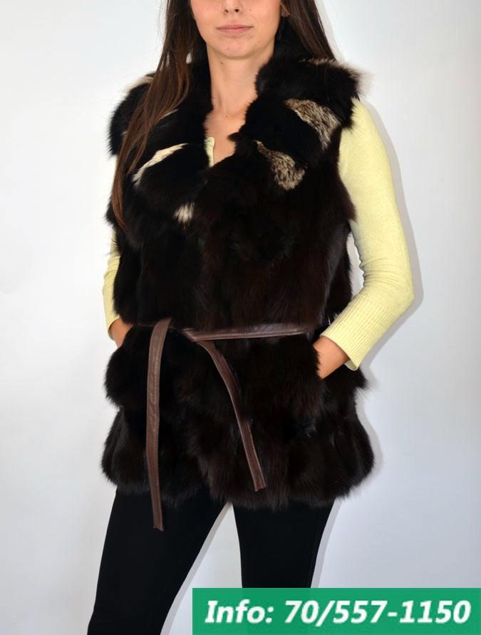 FOX BROWN női róka mellény - Bőrkabát boltBőrkabát bolt f46481f9e1