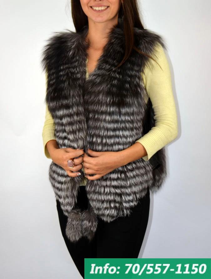 FOX SILVER RÖVID női róka mellény - Bőrkabát boltBőrkabát bolt d94ad45888