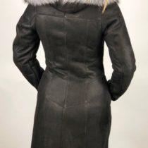FALA fekete női kapucnis irhabunda - Bőrkabát boltBőrkabát bolt c70ac70bcd