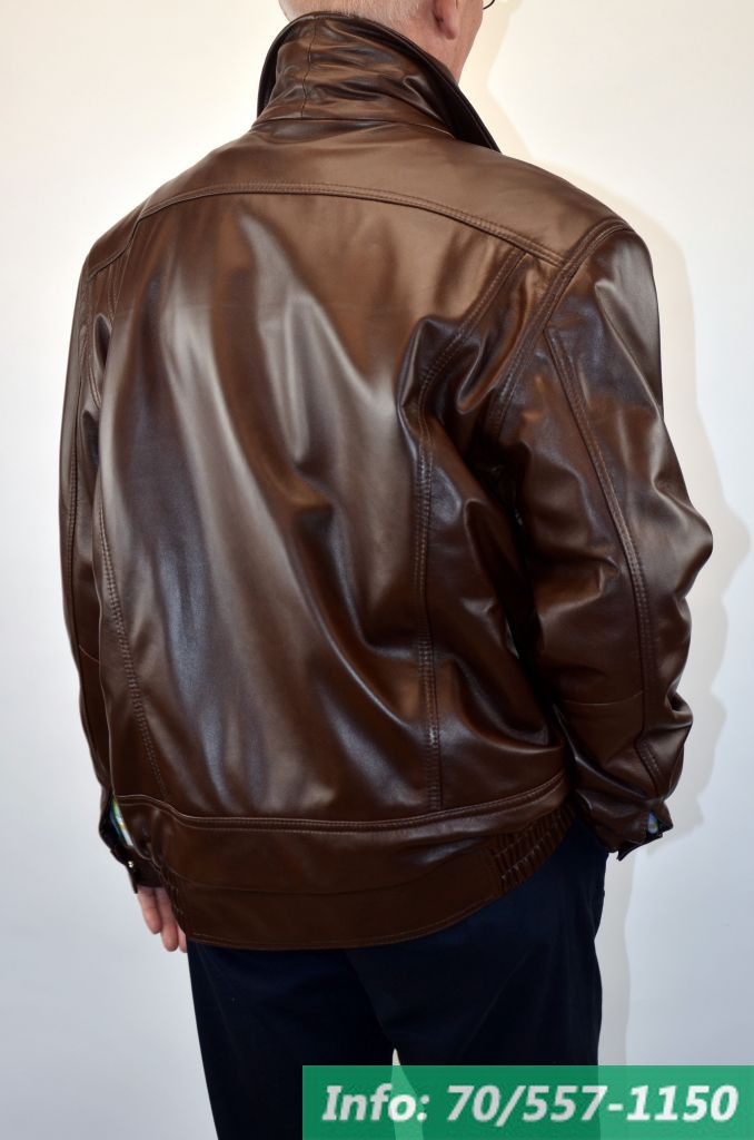 BRUNO férfi bőrdzseki barna - Bőrkabát boltBőrkabát bolt cd47158672