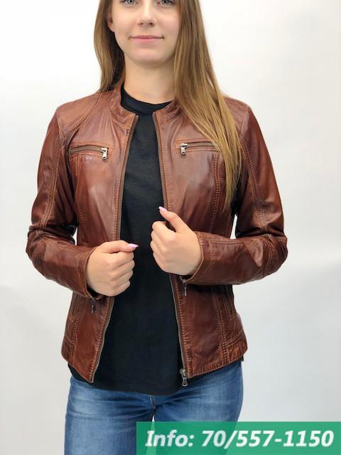 6ae8f851d4 MONO barna rövid női bőrdzseki - Bőrkabát boltBőrkabát bolt