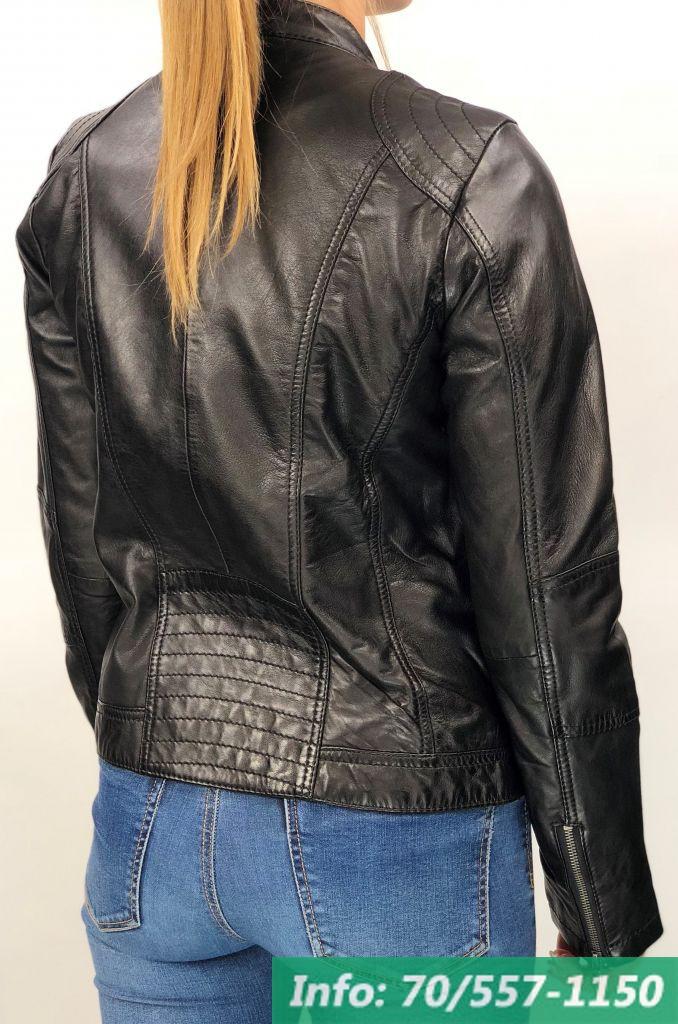 MONO fekete rövid női bőrdzseki - Bőrkabát boltBőrkabát bolt d96cbbbdfd