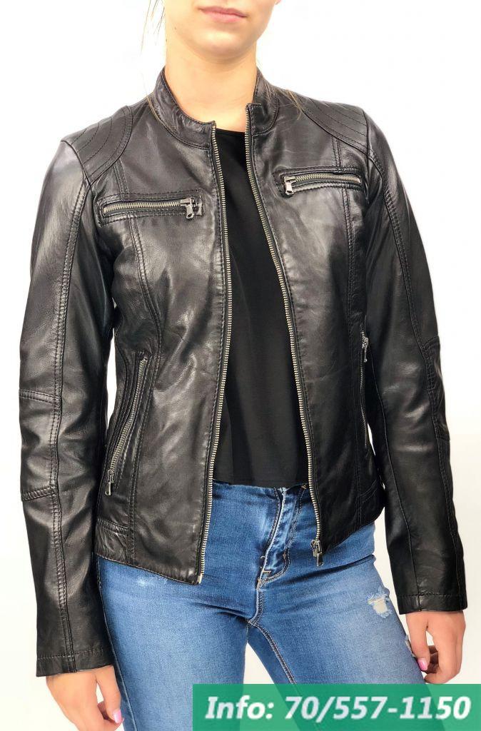 e732bdf2f6 MONO fekete rövid női bőrdzseki - Bőrkabát boltBőrkabát bolt