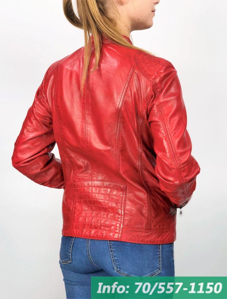MONO piros rövid női bőrdzseki - Bőrkabát boltBőrkabát bolt b2bc4911ec