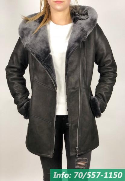 SOFIA női irhakabát fekete - Bőrkabát boltBőrkabát bolt 830119325b
